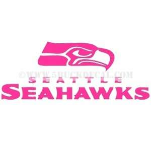 SEATTLE SEAHAWKS car window sticker decal BREAST CANCER