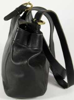 Coach Black Leather Carry All Satchel Shoulder Bag Handbag Purse 4157