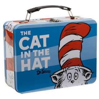 Dr. Seuss The Cat In The Hat Large Carry All Tin Tote Lunchbox, NEW