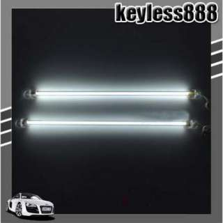 CAR NEON LIGHT LAMP 2 x WHITE 12 CCFL COLD CATHODE