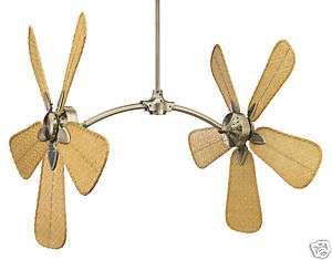 Fanimation Caruso Antique Brass Adjustable Dual Fan Motor Ceiling Fan