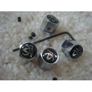 4 PCS Anti theft Tire AIR Valve Stems Caps for Acura Car