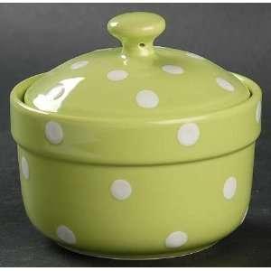 Spode Baking Days Green Miniature Round Covered Casserole, Fine China
