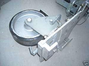 Heavy Duty Rubber Wheel Industrial Casters, Used