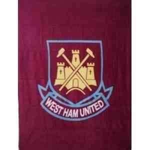 West Ham Fc Super Soft Fleece Blanket Bed Throw