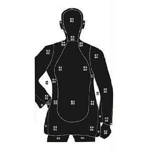 Silhouette Paper Target 35x45 Inch 100 Per 37003: Sports & Outdoors