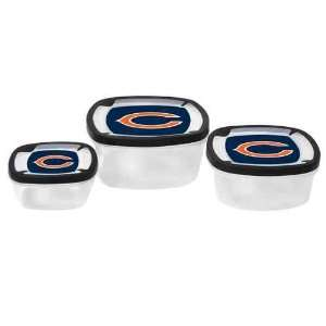 Chicago Bears Plastic Food Storage Container 3pc Set NO