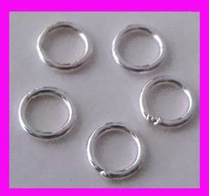 925 Sterling SILVER closed soldered round Jump Rings 4mm findings R16