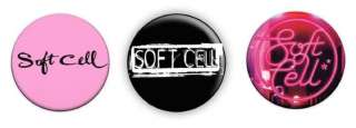 Soft Cell Logo 1 Pin Button Badges (Marc Almond)