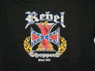 BIKER T  SHIRT REBEL CHOPPERS