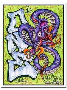 Tattoo Flash Sketch Book Grey Tiki Skull Snake Dragon