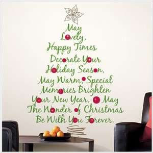 Christmas Tree Quote Giant Wall Decal