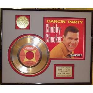Chubby Checker Dancin Party Framed 24kt Gold Record Display   Great
