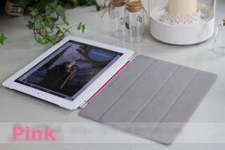 Red Magnetic Leather Smart Case Cover for Apple iPad 2