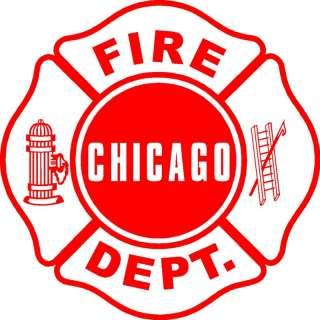 Chicago Fire Dept. maltese cornhole game decal set