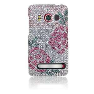 Premium   HTC EVO 4G Full Diamond Protex Winter Roses(Carrier