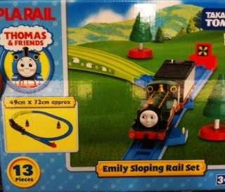 TOMY PLARAIL TRACKMASTER EMILY GREEN SLOPING TRACK SET