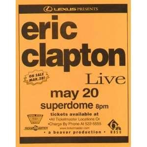 Eric Clapton New Orleans Original Concert Poster