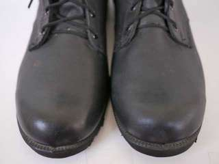 Vtg Army Military Combat All Leather Jump Boots 12.5