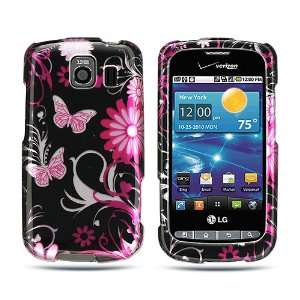 LG Vortex VS660 (Verizon) Cool Pink Butterfly Flower On