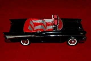 FRANKLIN MINT DIE CAST EXACT REPLICA 124 CHEVROLET BEL AIR 1957 BLACK