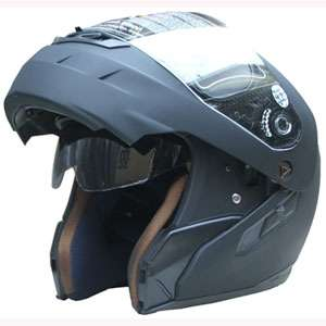 Dual Visor Flip Up full face Motorcycle Helmet matbk M