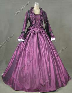 Civil War Victorian Satin Ball Gown Day / Evening Dress 170 XL