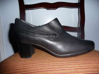 CLARKS WOMENS BLACK LEATHER ROPE SHOOTIE   NEW