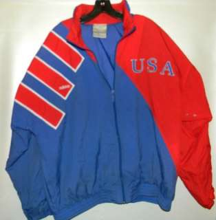 VTG Adidas USA Red White & Blue Olympic / Ski Jacket Mens XL