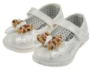 Kids baby girls white leather walking shoes toddler sandals shine 5.63