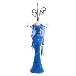Sparkling Sequin Blue Dress Jewellery Mannequin Display