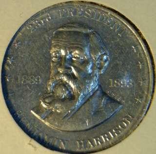 Harrison Mr. President Commemorative Shell Game Medal Token   Coin