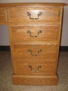 Ethan Allen Canterbury Oak Collection Solid Oak Double Pedestal Desk