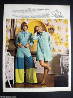 1969 Vintage Evelyn Pearson College Girl Lounge Wear Ad