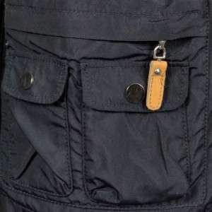 Studio Womens Blue Indigo Nylon Safari Rain Coat Jacket L