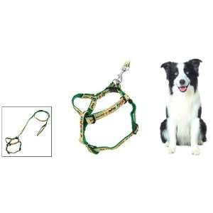 Como Green Cartoon Pet Dog Nylon Pulling Harness Leash