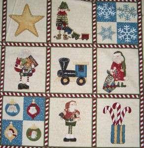 HERE COMES SANTA CHRISTMAS~ Cotton Fabric Craft Panel