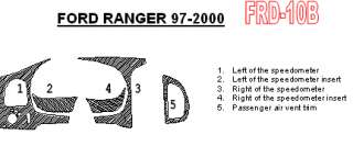 Ford Ranger Carbon Fiber Dash Kit Trim Parts