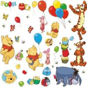 RoomMates RMK1498SCS Pooh and Friends Peel & Stick Wall