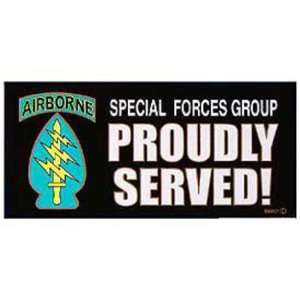 Special Forces Group Proudly Served Bumper Sticker Automotive