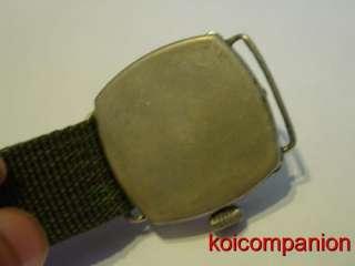 Mido Very RaRe Military 3 adjs 15J Manual Wind Sub second Mens Watch