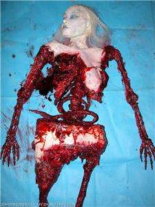 HALLOWEEN PROP HAUNTED HOUSE LIFE SIZE FULL BODY FEMALE CORPSE