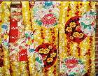 SILK FLORAL HAORI EMBROIDERED JAPANESE KIMONO HAPI HANTEN POCKETS