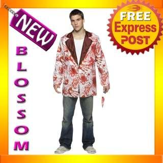 White Bloody Blazer Jacket Tuxedo Fancy Dress Halloween Costume