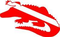 Alligator/Crocodile SCUBA Dive/Diver Flag Sticker/Decal