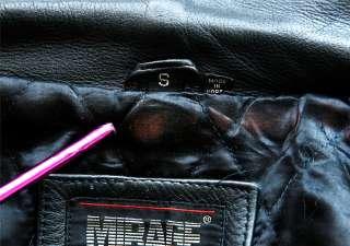 Black Leather MENS/WOMENS Motorcycle Jacket Coat M Skull Tattoo