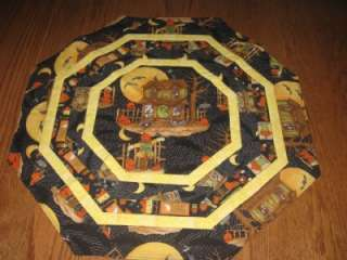 Handmade Halloween Table Runner Topper Haunted Houses