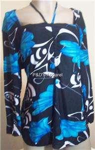 Everyday Womens Plus Size Clothing Black Blue Shirt Top Blouse XL 1X