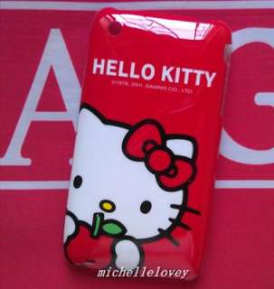 New Cute Cartoon Hello Kitty Back Cover Case for iPhone 3g/3gs MH45