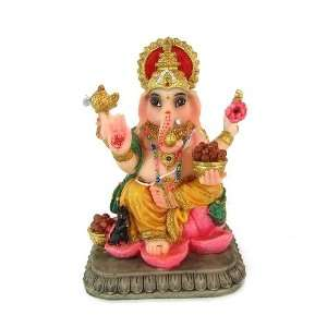 Colorful Polyresin Statue of Indian Hindu God Ganesh, 4